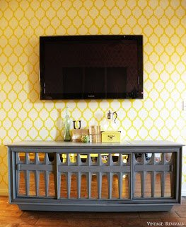 Living Room Wall Stencil Tutorial Vintage Revivals
