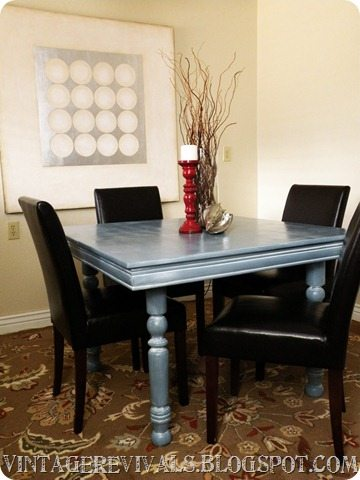 Vintage revivals 3 hour basement redo - Kitchen table redo ...