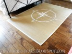 Painted Compass Sisal Rug