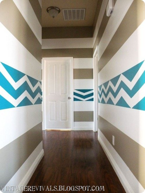 DIY Striped Chevron Wall Treatment[2]