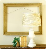 Wood Grain Glitter Lampshade With Krylon Glitter Blast