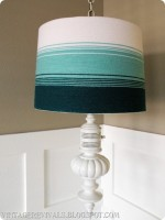 Yarn Ombre Lampshade Tutorial