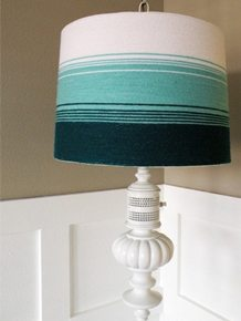 Yarn Ombre Lampshade Tutorial • Vintage Revivals