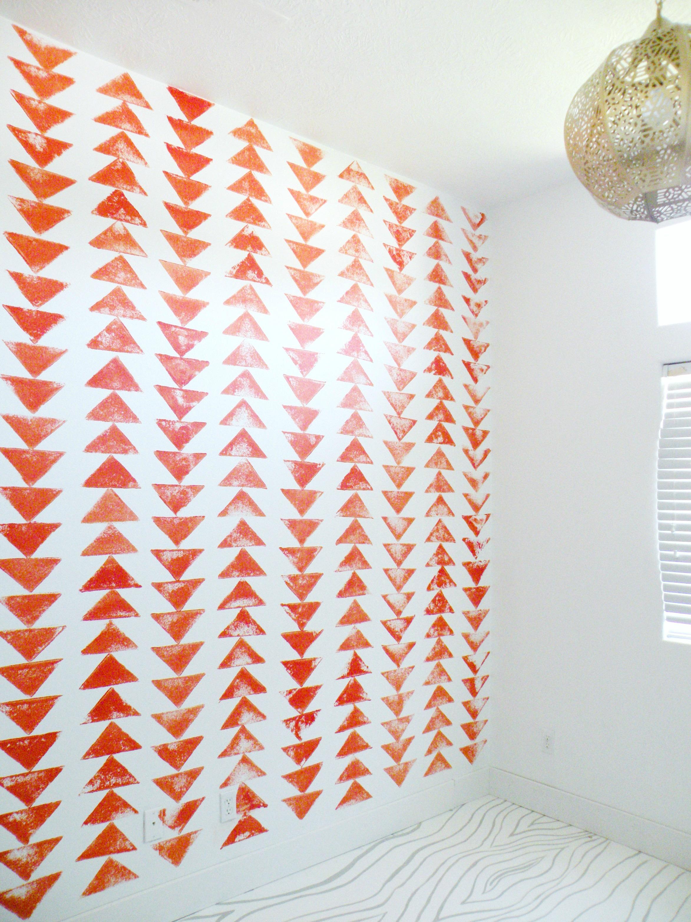 DIY Tribal Triangle Wallpaper