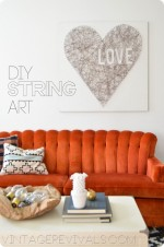 String Art Love and My ScotchBlue Secret For PERFECTLY Edged Art!