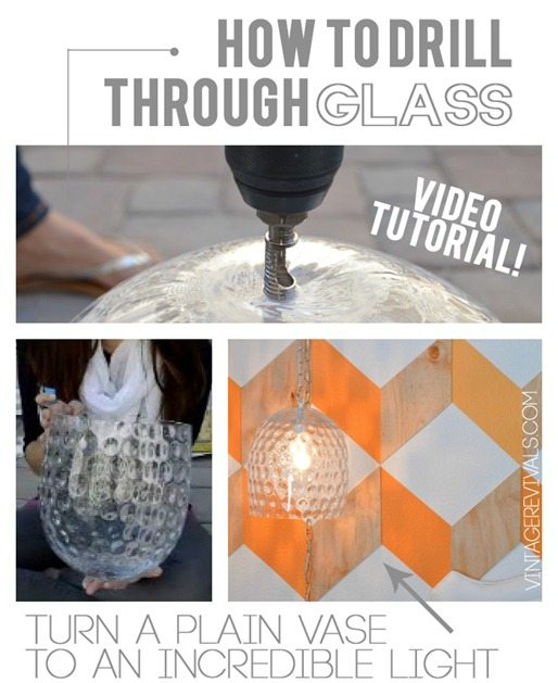 How To Drill Through Glass Tutorial @ Vintage Revivals[13]