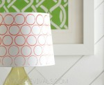 Mandilicious Christmas Project 3: Stamped Ombre Lampshade