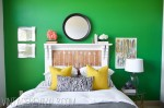 A Perfect Emerald Green Guest Room Overhaul (and what to do with an old fireplace mantle!)