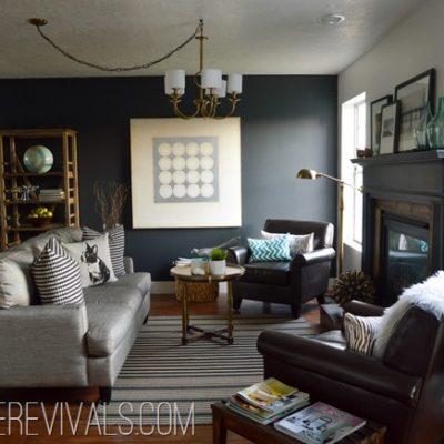Loft Living Room & Entryway Makeover Reveal! • Vintage Revivals