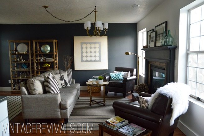 Vintage revivals alicia s living room renovation reveal for Living room makeovers
