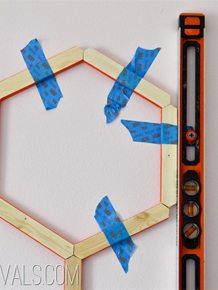 DIY Honeycomb Hexagon Wall Treatment • Vintage Revivals