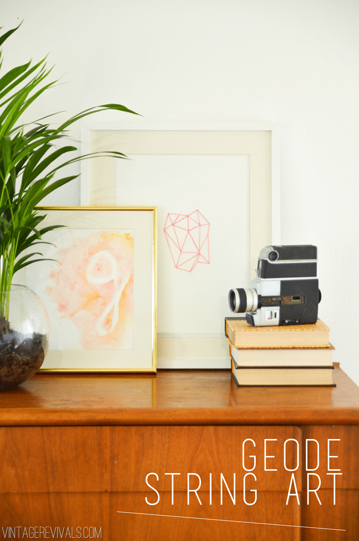 Hot Pink Geode String Art Tutorial vintagerevivals