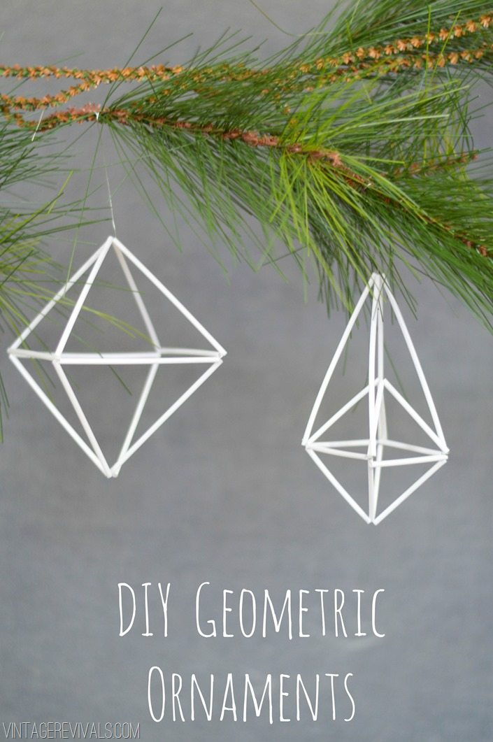 DIY Geometric Ornament Tutorial vintagerevivals