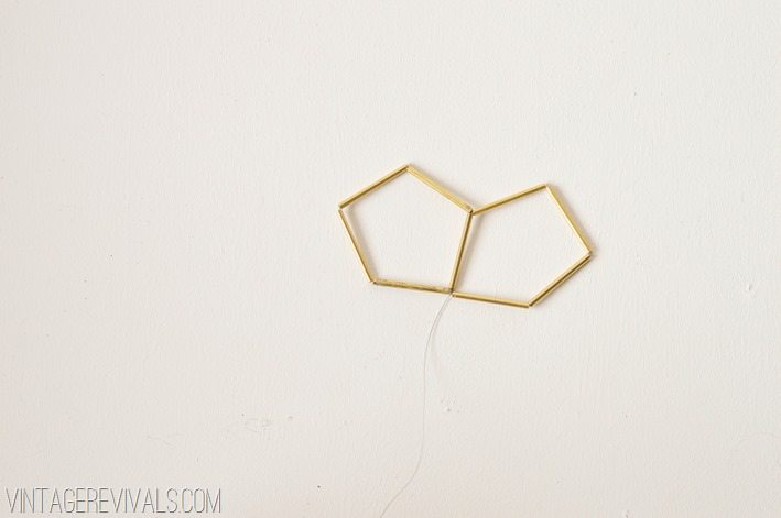 Geometric Brass and Leather Hanging Planter-10