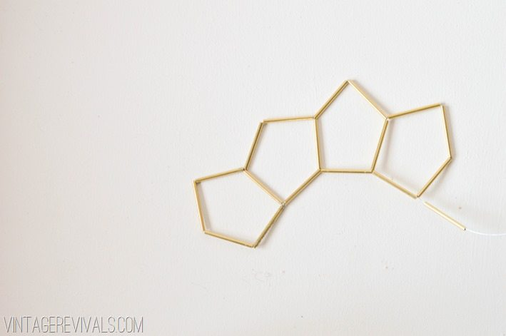 Geometric Brass and Leather Hanging Planter-14
