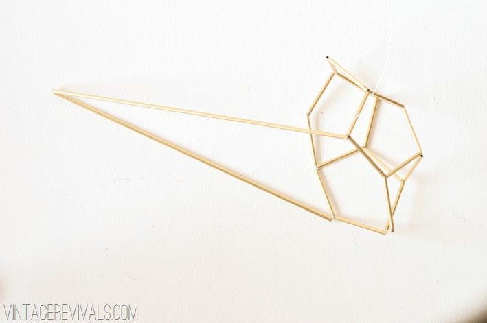 Geometric Brass and Leather Hanging Planter-20