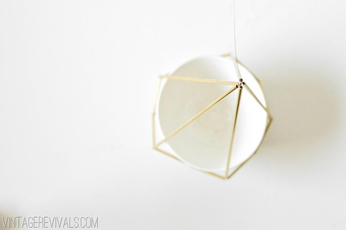 Geometric Brass and Leather Hanging Planter-25