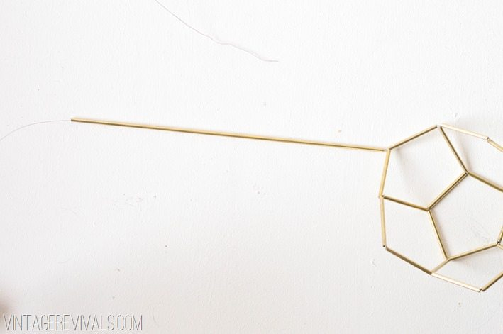 Geometric Brass and Leather Hanging Planter-Step 9