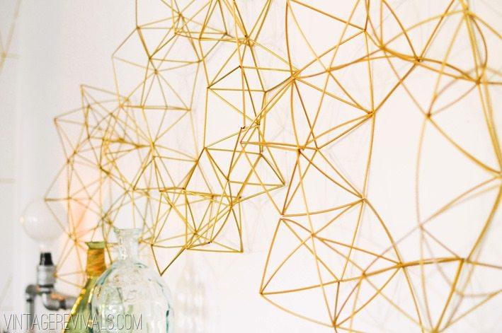 Geometric Wire Wreath Himmeli vintagerevivals.com