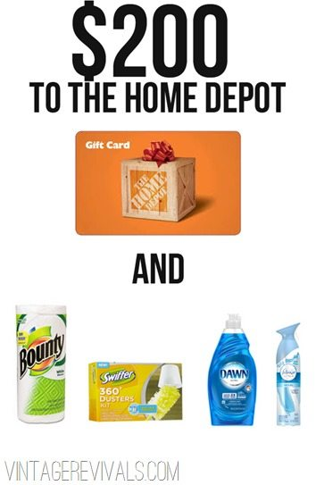 Giveaway to The Home Depot