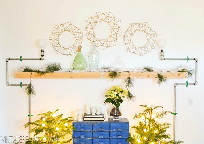 Himmeli Geometric Wreath Project vintagerevivals.com