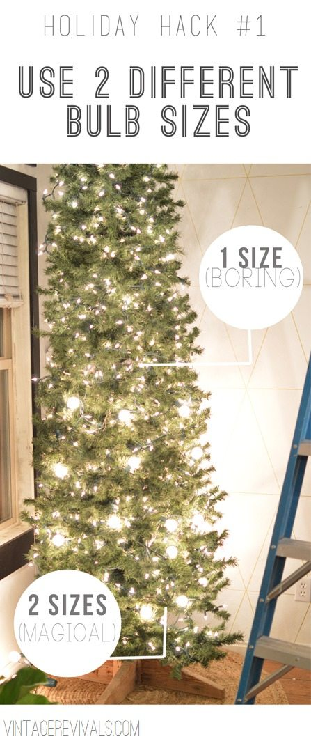 holiday hack 1 use 2 different bulb sizes - Christmas Light Bulb Sizes