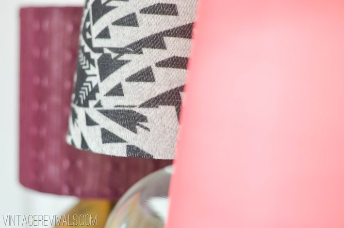 Lampshades covered in leggings