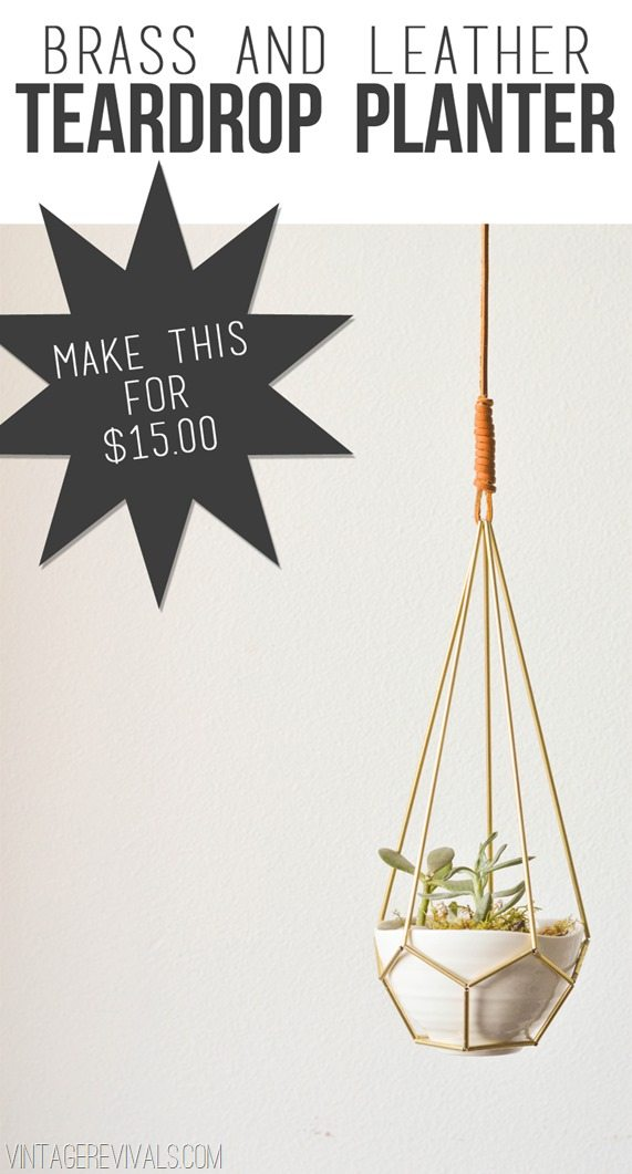 Make A Brass And Leather Teardrop Planter
