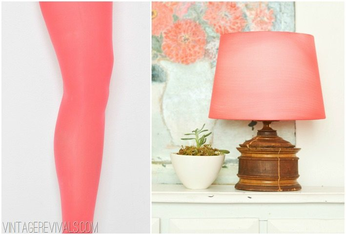 Nylon tights turned into a lampshade
