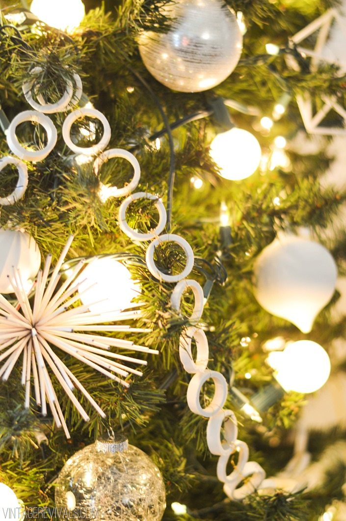 pvc pipe garland vintagerevivals - Vintage Christmas Tree Lights