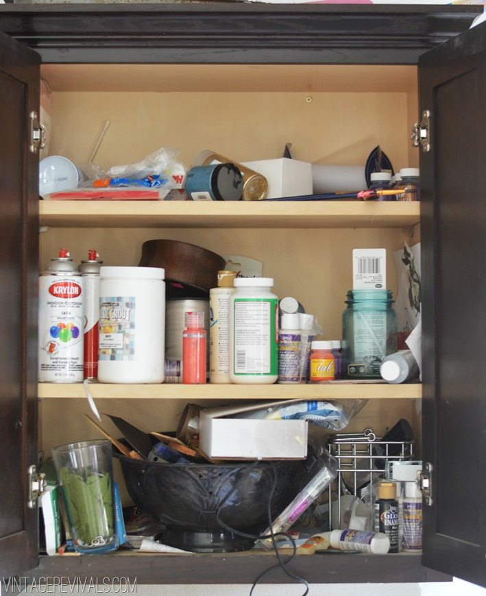 Cluttered Cupboard