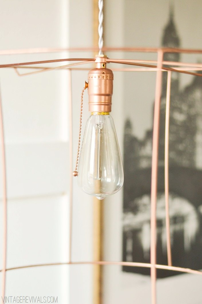 Rock What Ya Got Upcycled Copper Wire Pendant Lights