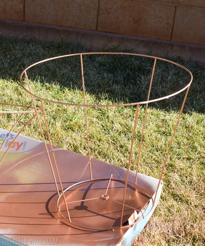 Copper Wire Lampshade