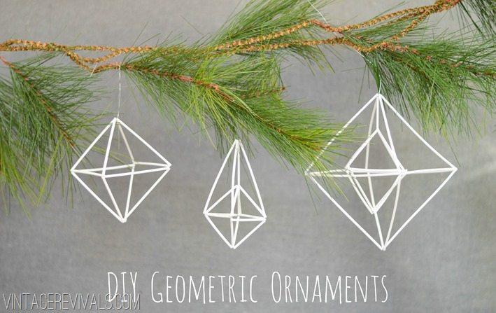 DIY Geometric Ornaments vintagerevivals.com