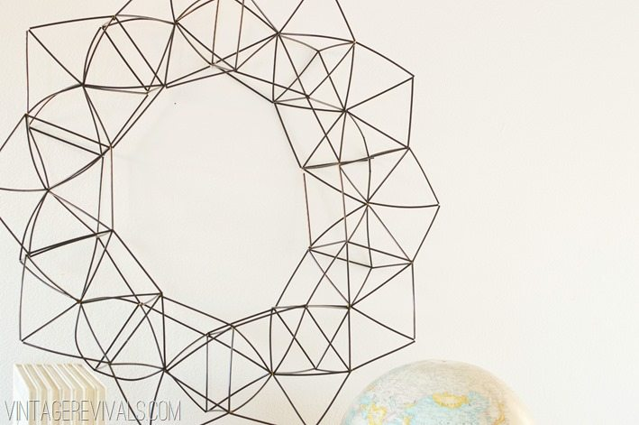 How To make a Modern Geometric Wreath vintagerevivals