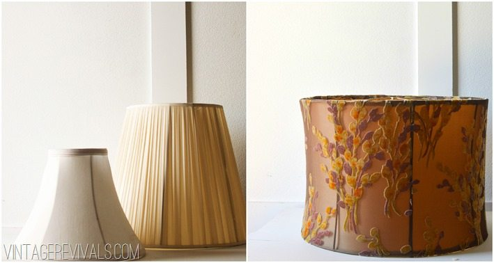 Ugly Lampshade Upcycle Ideas vintagerevivals