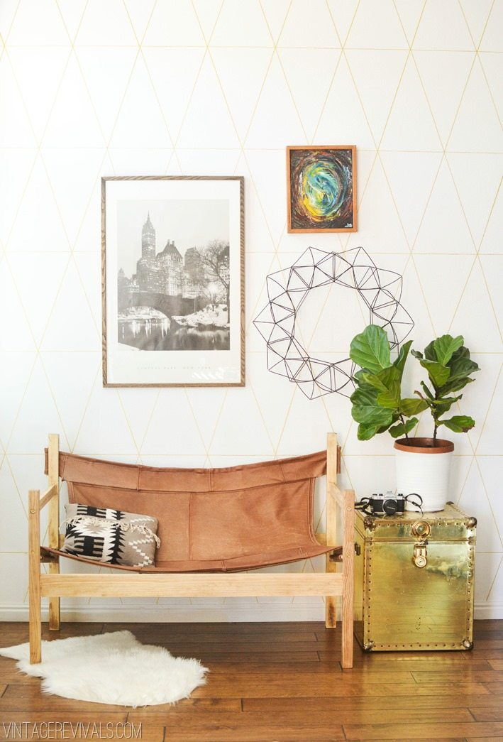 DIY Upcycled Leather Couch to Safari Sling Chair