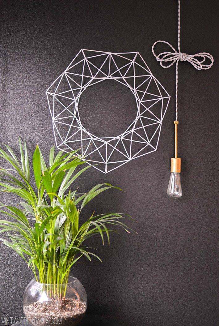 Geometric Wreath Tutorial vintagerevivals