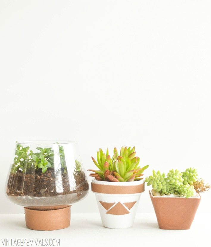 Leather Wrapped Planters vintagerevivals.com-3