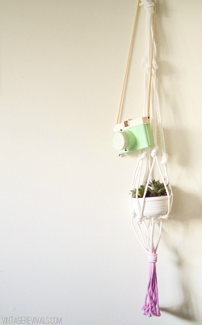 Orchid Dyed Macrame Planter DIY vintagerevivals.com