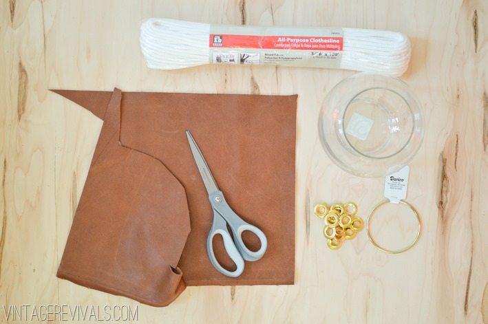 Upcycled Leather Sling Planter DIY vintagerevivals.com