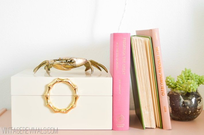 Brass Crab and Pink Books    Retro Bohemian Teen Bedroom Makeover vintagerevivals.com
