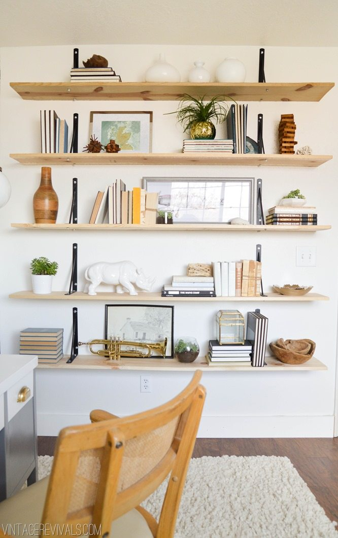 Easy Industrial Shelf DIY vintagerevivals.com