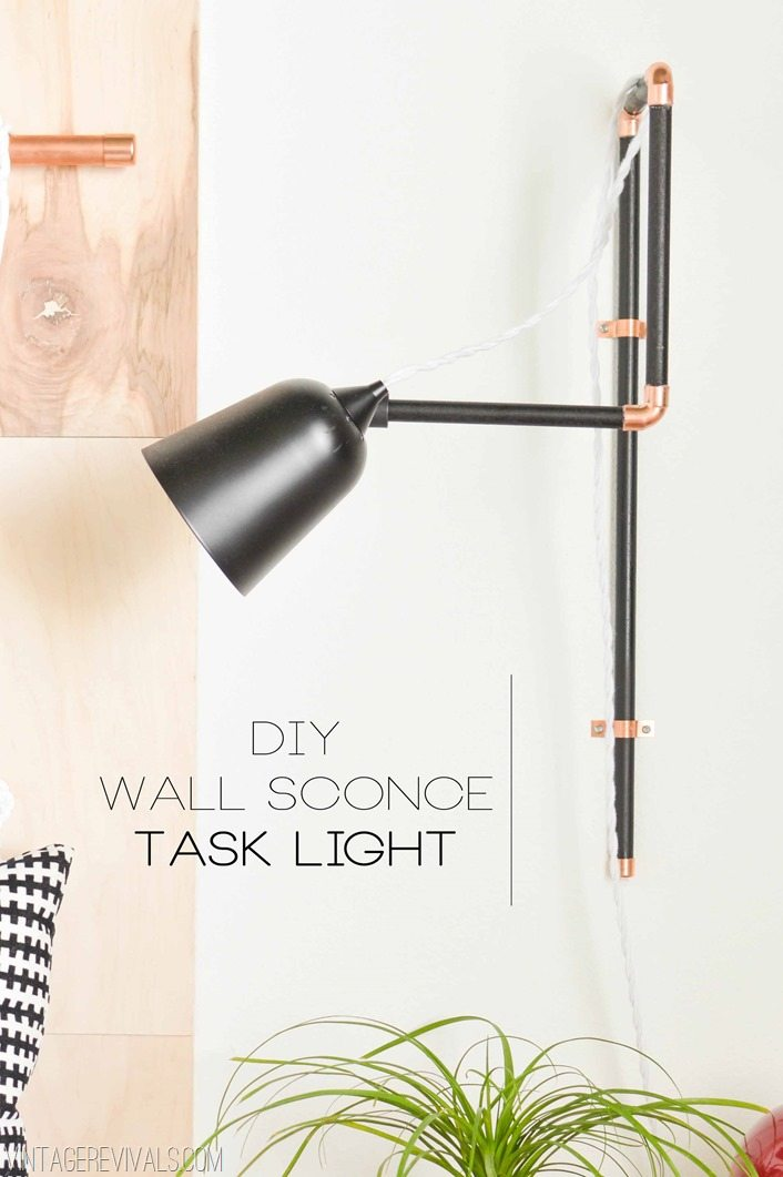 How To Make A Wall Sconce Task Light Tutorial vintagerevivals