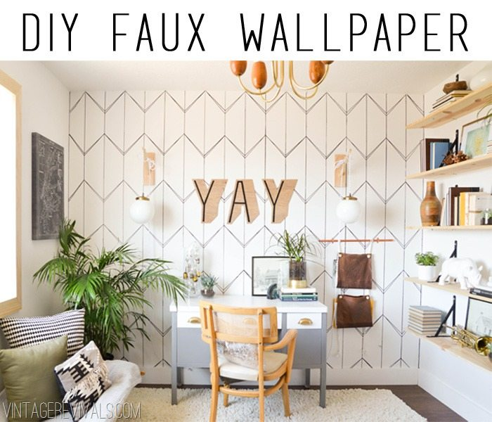 Diy Wallpaper With A Sharpie Vintage Revivals