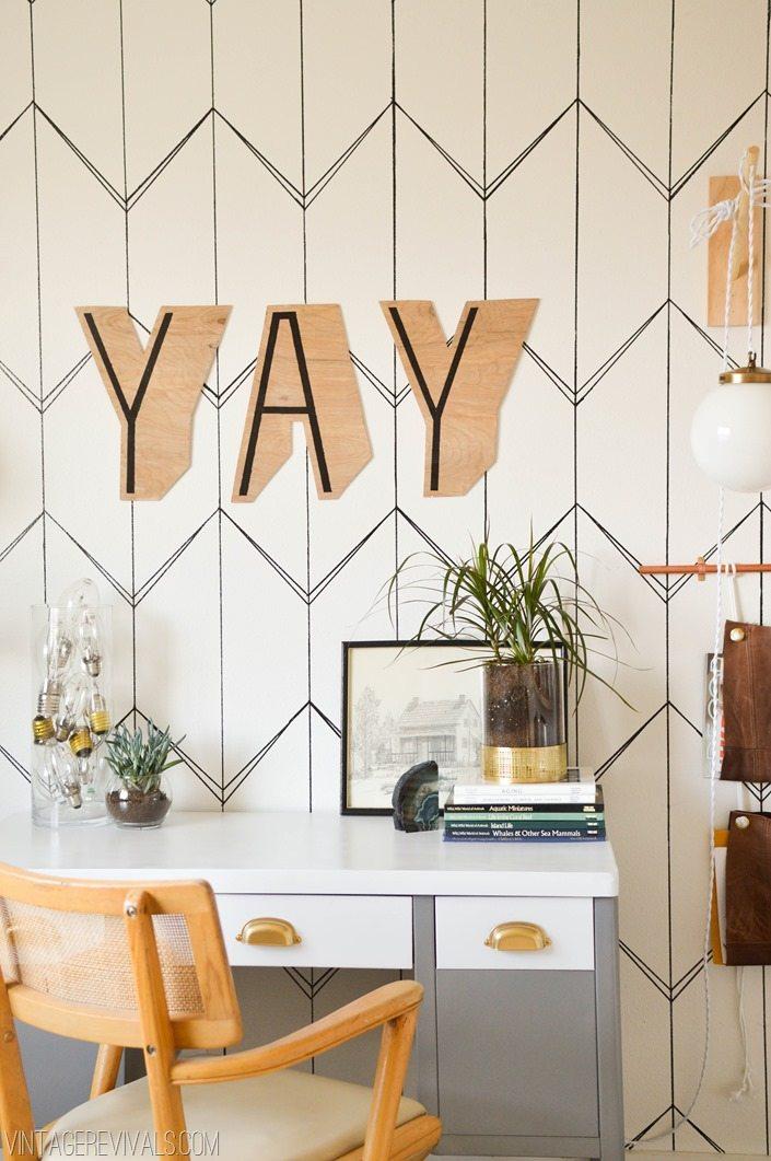 Amazing Removeable Sharpie Wallpaper Treatment vintagerevivals