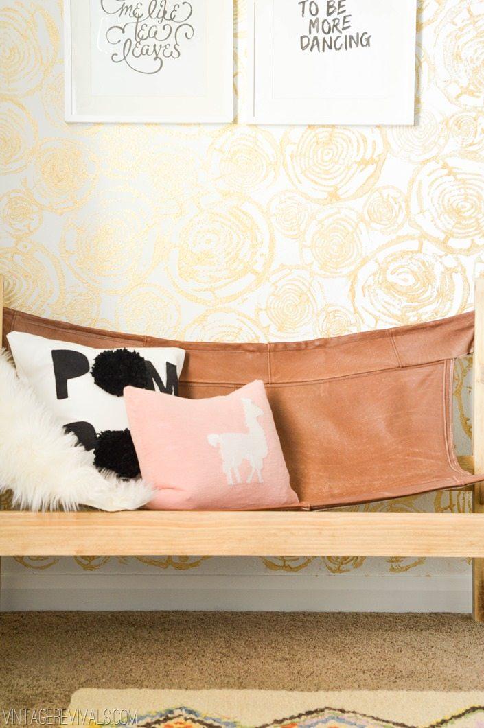 Retro Bohemian Teen Bedroom Makeover vintagerevivals com 19. Macie s Boho Bedroom Makeover Reveal   Vintage Revivals