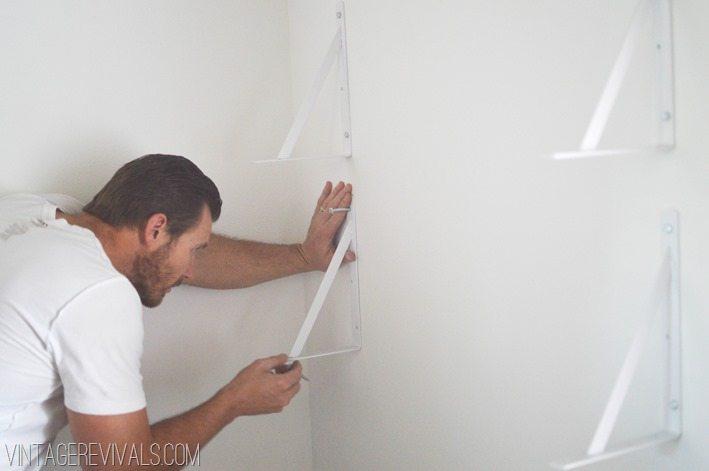 Simple DIY Shelves vintagerevivals.com-6