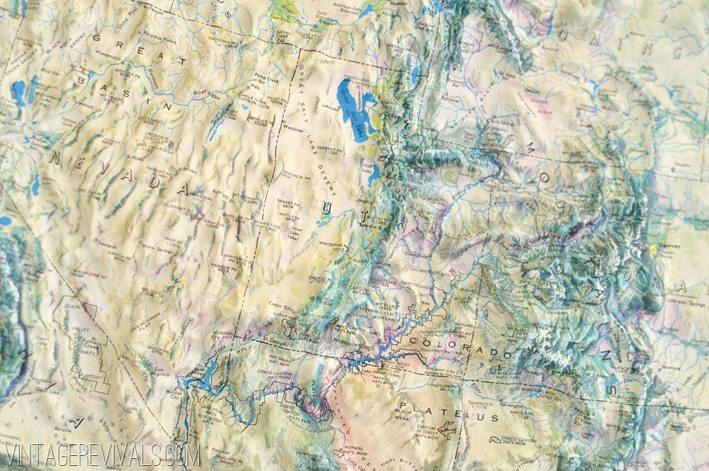 Vintage Topographic Relief Map vintagerevivals.com