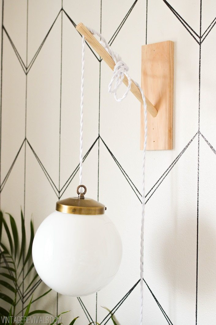 Wooden Dowel and Plank Sconces
